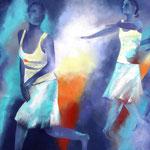 Tanztheater I, Öl auf Leinen, 100 x 120 cm
