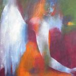 Engel III, Öl auf Leinen, 100 x 70 cm