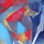Tanzstunde II, Öl auf Leinen, 100 x 70 cm