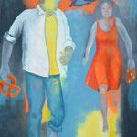 Hänsel und Gretel, Öl auf Leinen, 120 x 100 cm