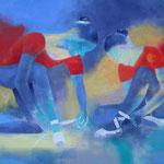 Tanzstunde III, Öl auf Leinen, 100 x 120 cm