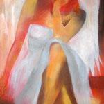 Engel I, Öl auf Leinen, 100 x 50 cm
