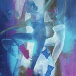 Tanztheater II, Öl auf Leinen, 120 x 100 cm