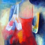 Tanzstunde I, Öl auf Leinen, 100 x 50 cm