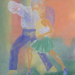 Dirty Dancing, Öl auf Leinen, 100 x 100 cm