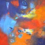 Gesicht II, Öl auf Leinen, 50 x 50 cm