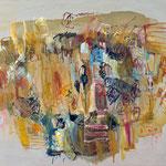 """Komposition (Kopf)"", 2020, 80x100, Öl auf Leiwand"