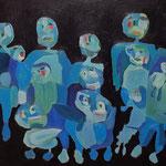 """""""The Gang #4"""", 2021, 50x70, Öl auf Leinwand"""