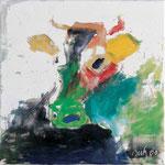 Head,     40x40,     Acryl auf Leinwand, 2001