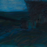 Nacht,     27x46,      Öl auf Leinwand, 2007