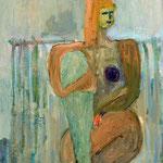 """""""Seated #15"""", 2019, 48x38, Öl auf Leinwand"""