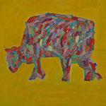 Kuh 5,     35x44,     Öl auf Papier, 2014