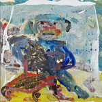 """la jeune fille armèe - 5"", Monotypie auf Karton, 20x20, 2019"