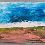 Kleine Landschaft 4,     22x26,     Öl auf Hartfaser, 2016