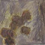Achsteine II,     20x20,     Mischtechnik auf Papier, 1996