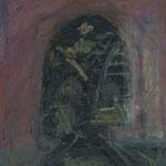 Geisterfahrt,     55x60,     Öl auf Leinwand, 2009
