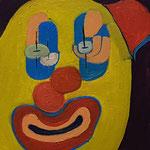"""Clown (Trochlearis)"", 2021, 30x20, Öl auf Leinwand"