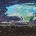 Sturmwolke,     20x25,     Öl auf MDF, 2017