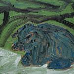 Blaue,     60x73,     Öl auf Leinwand, 2008