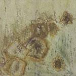 Achsteine III,     20x20,     Mischtechnik auf Papier, 1996