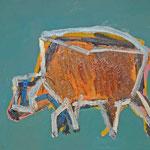 Kuh 4,     35x44,     Öl auf Papier, 2014