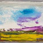 Kleine Landschaft 3,     22x26,     Öl auf Hartfaser, 2016