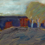 Birken     27x46,      Öl auf Leinwand, 2007