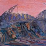 Tagebau II,      60x80,     Öl auf Leinwand, 2012
