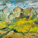 Bergwelt 1,   46x54,   Öl auf Leinwand,   2016