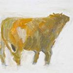 Stier 6,     28x35,     Öl auf Papier, 2014