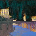 Spiegelung,   33x46,   Öl auf Leinwand,   2016