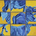 Fragmente,     240x300,     Öl auf Leinwand, 2013