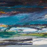 Sturm,     20x50,     Öl auf Leinwand, 2017
