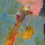 Hinterhof 4,    90x60,     Öl auf Papier, 2015