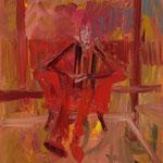 """""""Seated #07"""", 2019, 60x50, Öl auf Leinwand"""