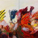 Blumenstillleben,     120x160,     Öl auf Leinwand, 2016