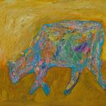 Kuh 2,     35x44,     Öl auf Papier, 2014