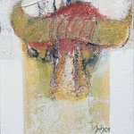 O.T.,     34x28,     Mischtechnik auf Leinwand, 2001