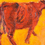 Rote,     60x73,     Öl auf Leinwand, 2013