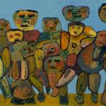 """""""The Gang #1"""", 2020, 50x70, Öl auf Leinwand"""