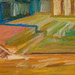 Turnhalle III,      33x46,     Öl auf Leinwand, 2012