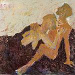 """""""Paar"""", 2020, 100x120, Öl auf Leinwand"""