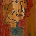 Portrait,     50x20,     Öl auf Leinwand, 2017
