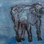 Kalb IV,     60x73,     Öl auf Leinwand, 2008