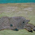 Kalb I,     60x73,     Öl auf Leinwand, 2008