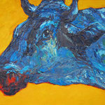 Kopf,     60x73,     Öl auf Leinwand, 2013