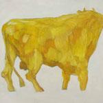 Stier 4,     28x35,     Öl auf Papier, 2014