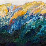 Bergwelt 3,   46x54,   Öl auf Leinwand,   2016