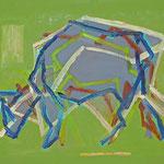 Kuh 6,     35x44,     Öl auf Papier, 2014