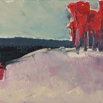 Landschaft,     27x46,      Öl auf Leinwand, 2007